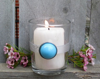 Quince / Turquoise Quince Decor / Votive Candle Holder / Country Western Quincenara Decor / Native American Decor / Turquoise Home Décor / 6