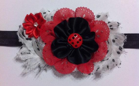 Knitting Ladybug Ladybird Headband : Ladybug headband lady bug infant by