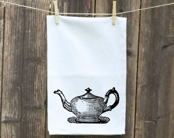 Gift for Mom, Gift for Cook, Funny Kitchen Towel, Dish Towel, Hostess Gift, Housewarming Gift, Tea - Flour Sack Towel, Wedding Shower Gift