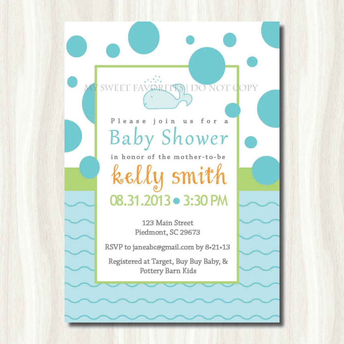 under the sea whale baby shower invitation by mysweetfavorites