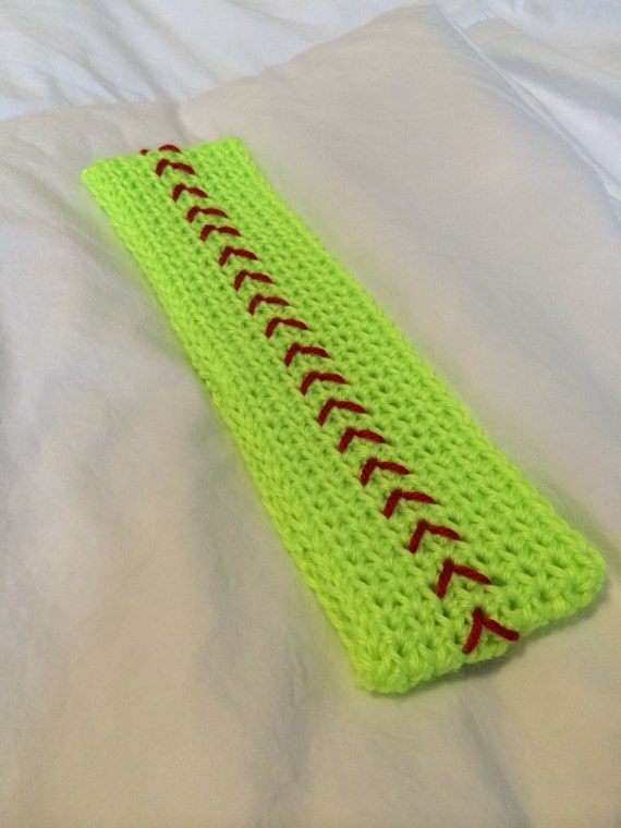 Free Crochet Pattern For Softball Headband : Crochet softball headband