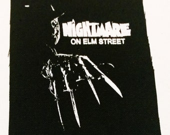NIGHTMARE on ELM STREET freddy patch punk horror freddy krueger Free Shipping