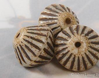 Tribal Cones (6) - Czech Glass Bead - 11x10mm - Bicone