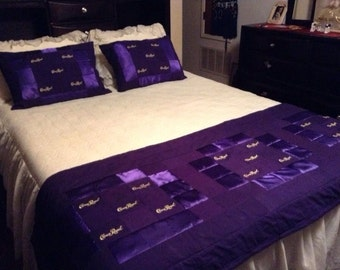 Crown. Royal Quilt Bed Scarf and Matching pillow shams