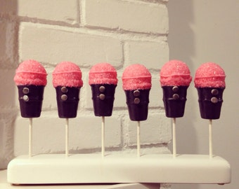 Microphone Cake Pops