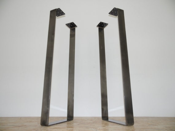 how to make flat steel table legs
