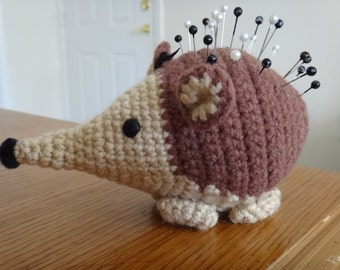 Handmade crocheted Hedgehog Pincushion