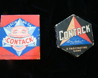2 Vintage Parker Bros. Contack Games, 1939