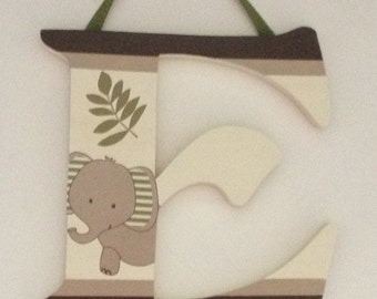Nali Jungle Wall Letters Name Personalized Nursery Decor Cocalo Animal Art