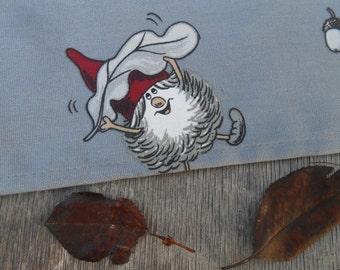 Christmas Towel Christmas Gift Scandinavian Design Tea Towel Kitchen Towel Nordic Christmas Ornament Tomte Cotton Towel Kitchen Towel