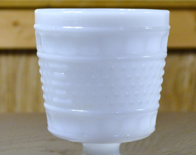 Vintage Napco Milk Glass Planter White Hobnail Pedestal Planter Wedding Vase PanchosPorch