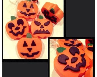 Halloween pumpkin chocolate covered oreos - halloween party chocolate favors