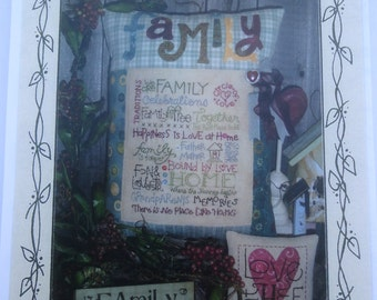 Family Stitchery Pattern by Kim Goodrich of Once Upon A Vine, #S46