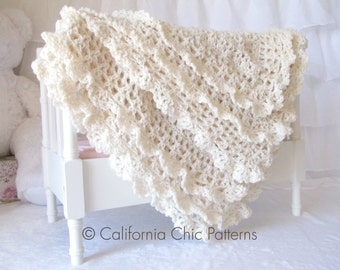 Crochet PATTERN 89 - Victorian Series - Crochet Baby Blanket PATTERN 89 - Instant Download PDF