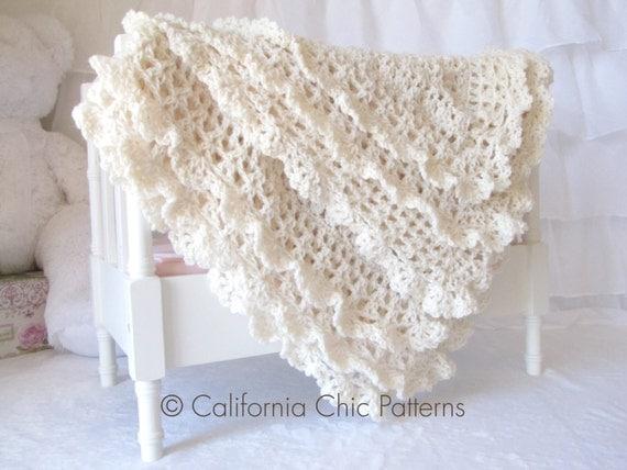 Baby Dress Crochet Pattern Victorian : Crochet PATTERN 89 Victorian Series Crochet Baby Blanket