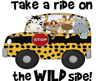 Two Side Wild Side School Bus T-Shirt