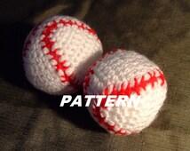 PATTERN Baseball Crocheted