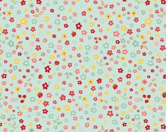 Fat Quarter The Sweetest Thing - Petals in Blue - Floral Cotton Quilt Fabric - Zoe Pearn for Riley Blake Fabrics - C2983-BLUE (W547)