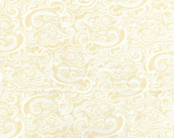 SALE!! - Fat Quarter Cabana - Summer Breeze in Peach and Cream - Cotton Quilt Fabric - by Kanvas - Benartex (W833)
