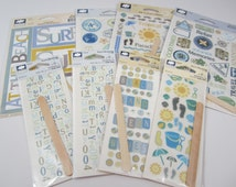 Lot of 8 Scrapbooking Packages Cloud 9 Designs Stickers and Rub-On