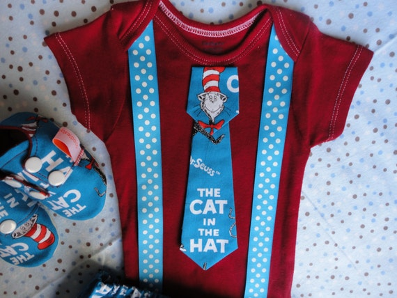 Dr Seuss Inspired Cat In The Hat Boutique Baby Boy Outfit