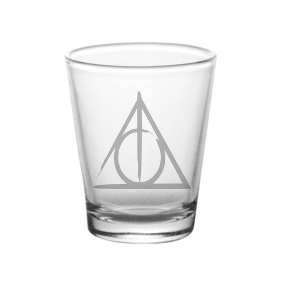 Deathly Hallows Shot Glass Harry Potter Inspired Shot Glass