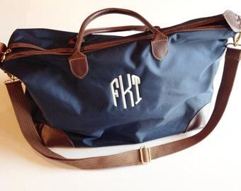 Monogrammed Weekender Bag   Overnight Bag   Monogrammed Duffle Bag   Monogrammed Luggage   Personalized Bag   Monogram Travel Bag  Weekender
