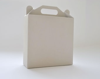 10 White, Gray or Kraft Gable Boxes I Large size handle boxes I Gift boxes, card stock boxes, presentation box, packaging 7.09x7.09x2.36