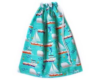 Wet Bag. Swim Bag. Large Wet Bag. Whales Sea Fish. Beach Bag. Diaper Bag. Nappy Bag. Wet Dry Bag. Pul Fabric. Drawstring Bag. Nappy Bag.