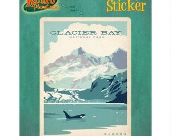Glacier Bay National Park Alaska Vinyl Sticker #47954