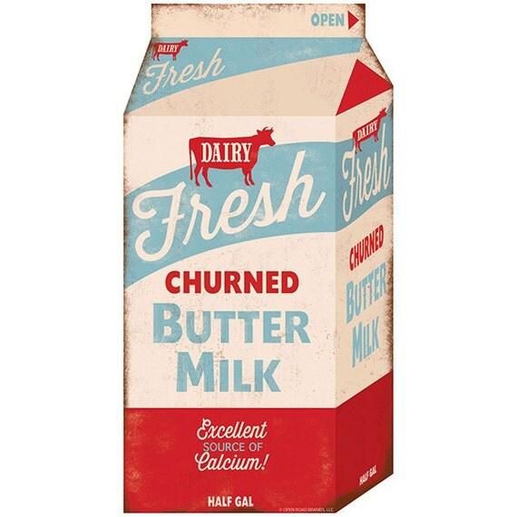 Fresh Churned Butter Milk Carton Wall Decal by RetroPlanetUSA