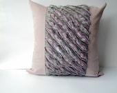 """Lavender Decorative Pillow. Patchwork Quilt Home Decor. Patchwork pillow. 16""""x16"""" Handmade. Lilac decor. Lavender."""