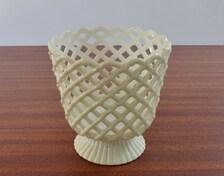 Vintage Plastic Basket Style Plant Pot