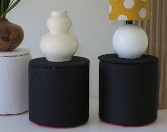 Black Cylinder Barbie Side Table