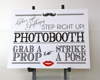 Wedding Photobooth Sign - Printable Photo booth Sign - Instant Download - PDF - DIY - AA1