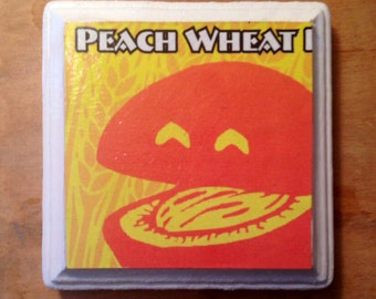 Wheach Peach Wheat Beer Coasters
