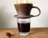 Dark Brown Clay Coffee Pour Over