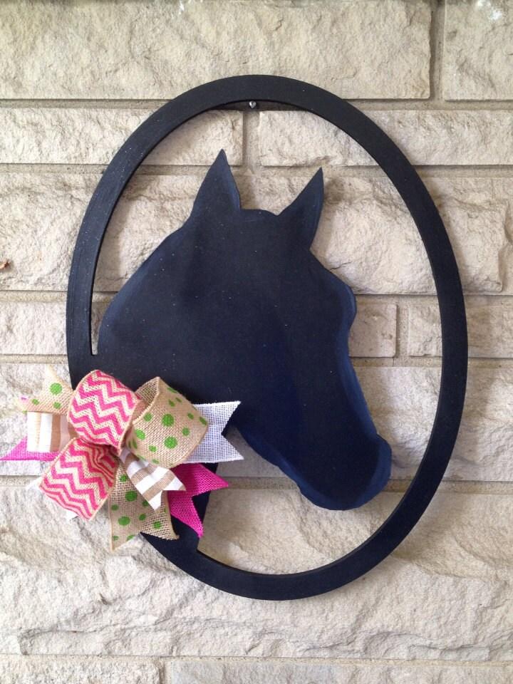 Horse Head Wreath Door Hanger Ky Derby