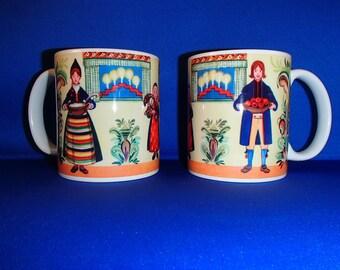 Scandinavian Swedish Family & Kurbits Flowers  Coffee Tea Mug #370