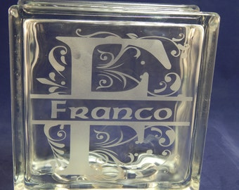 Etched Glass Blocks
