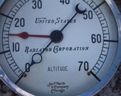 United States Radiator Corporation Altitude Gauge from Jas P Marsh & Co. Chicago, IL