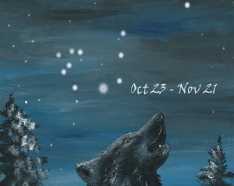 Wolf howling under the Stars - Scorpio