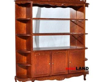 Quality Showcase Curio Cabinet 5825WN shelves dollhouse miniature 1:12 scale