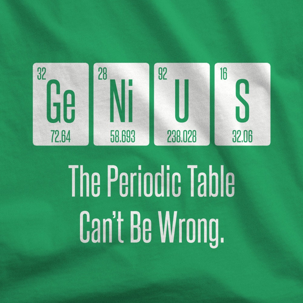 New periodic table name shirt table periodic name shirt periodic table t shirtsbysarah genius by funny shirt shirt urtaz Image collections