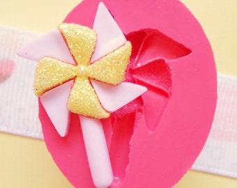 30mm Pinwheel Flexible Silicone Mold - Decoden Kawaii Sweets Resin Fimo Polymer Clay Sculpey Wax Soap Fondant Cabochon