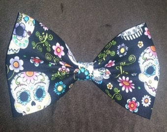 Day of The Dead Fabric Bow