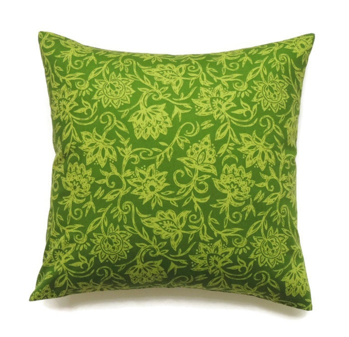 Green Pillow 14x14 Pillow Cover Throw Pillow Decorative