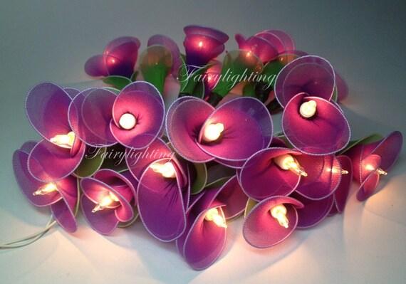 Purple String Lights For Bedroom : Fairy String lights 20 purple Tone for Wedding by fairylighting