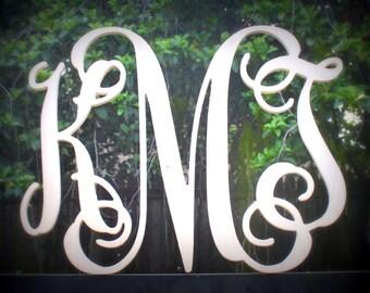 "Monogram Wood Letters 24"" Width Vine Font"