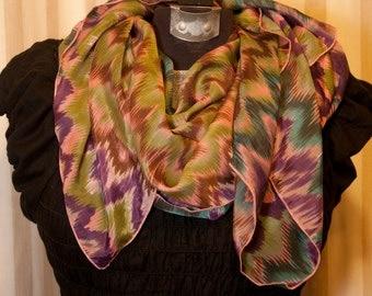 Purple,green & pink ripple design